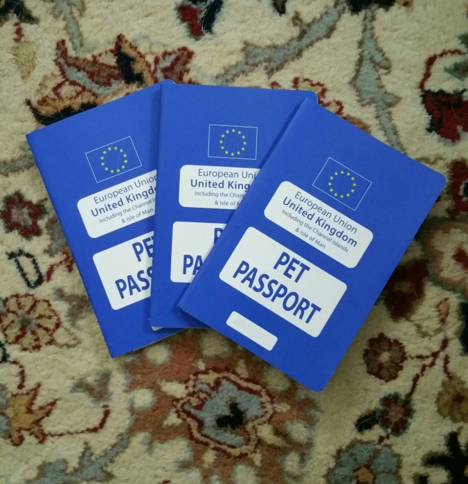 We've got passports for the doggies